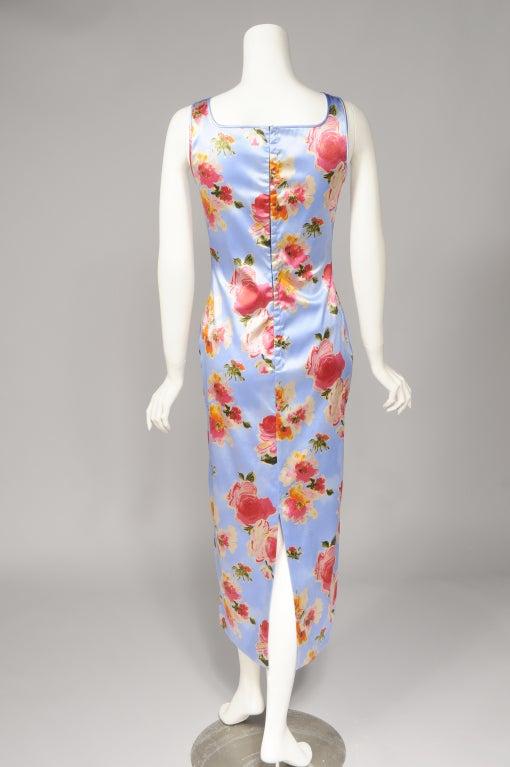 Dolce & Gabbana Silk Print Dress For Sale 1