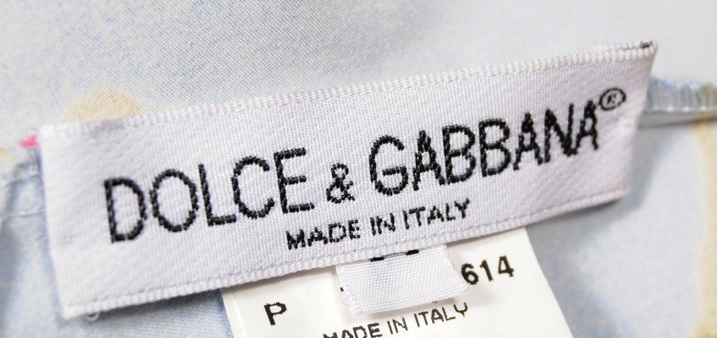 Dolce & Gabbana Silk Print Dress For Sale 2