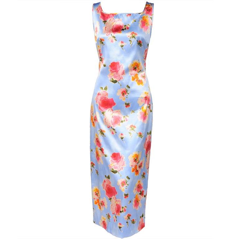 Dolce & Gabbana Silk Print Dress For Sale