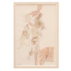 Halston Fashion Illustration by Joe Eula