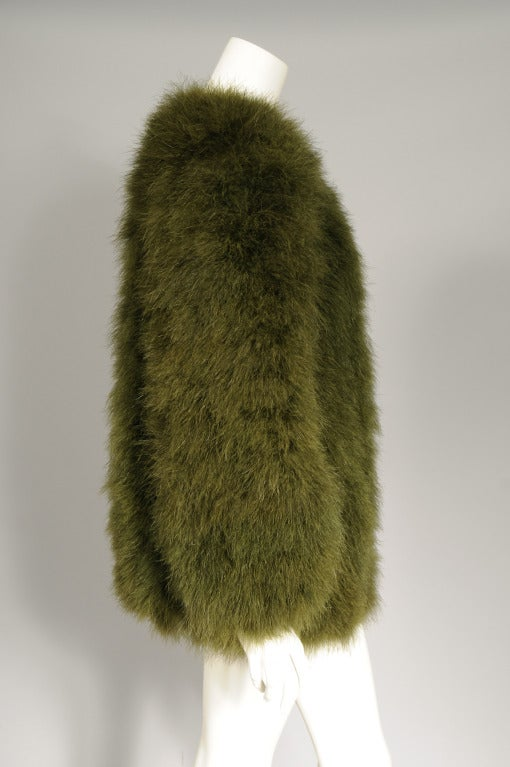 381249e0f05 Yves Saint Laurent Marabou Feather Jacket In Excellent Condition For Sale  In New Hope, PA