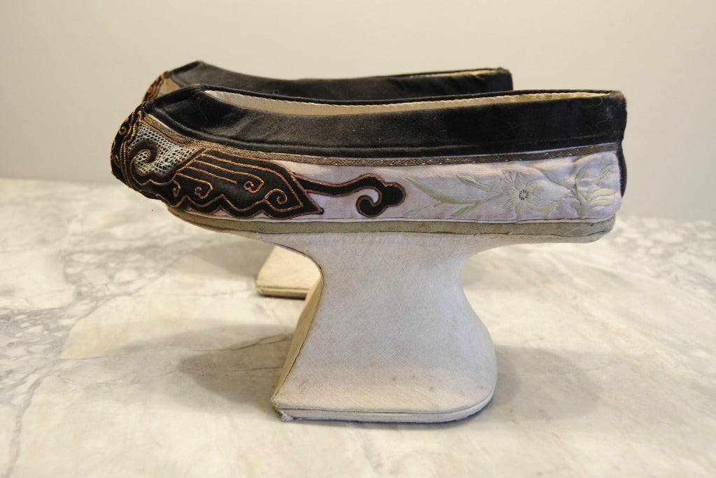 19th Century Chinese Manchu Platform Shoes At 1stdibs