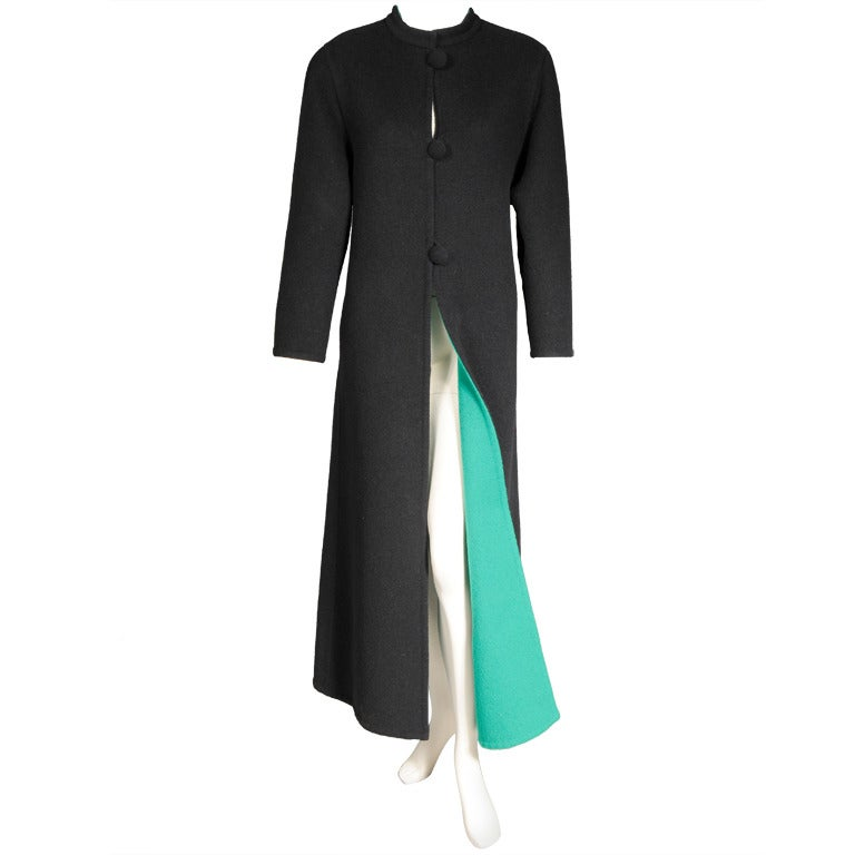 1970's Galanos Doublefaced Full Length Wool Coat