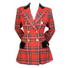 Ines de la Fressange Plaid Jacket, & Velvet Skirt & Pant
