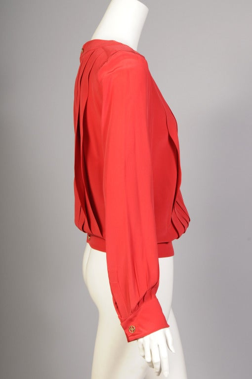Chanel Pleated Silk Blouse 2
