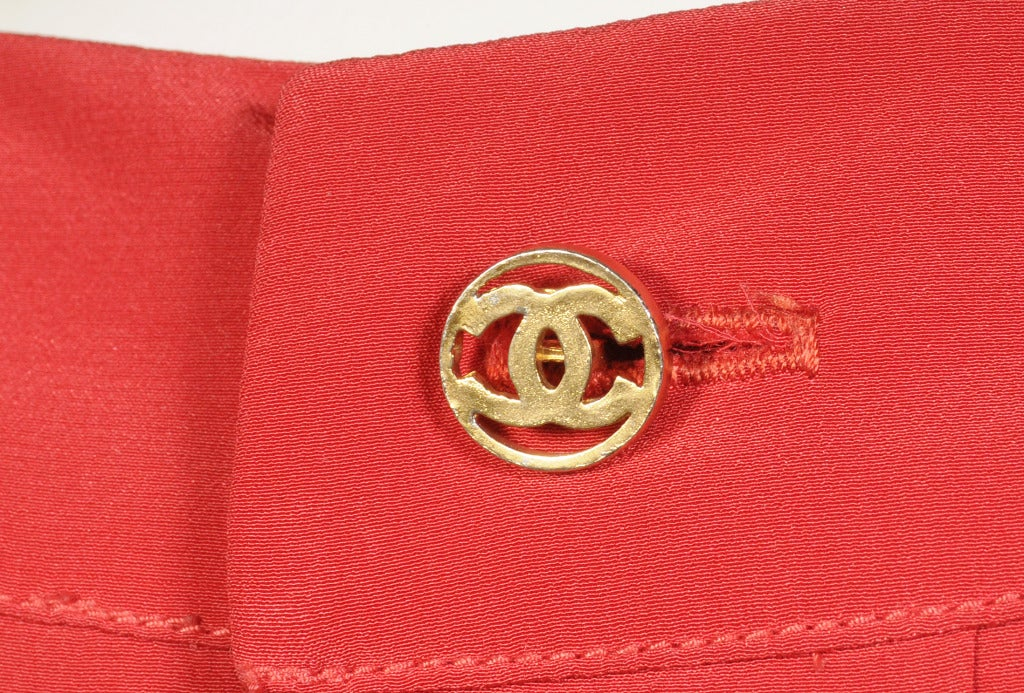 Chanel Pleated Silk Blouse 4