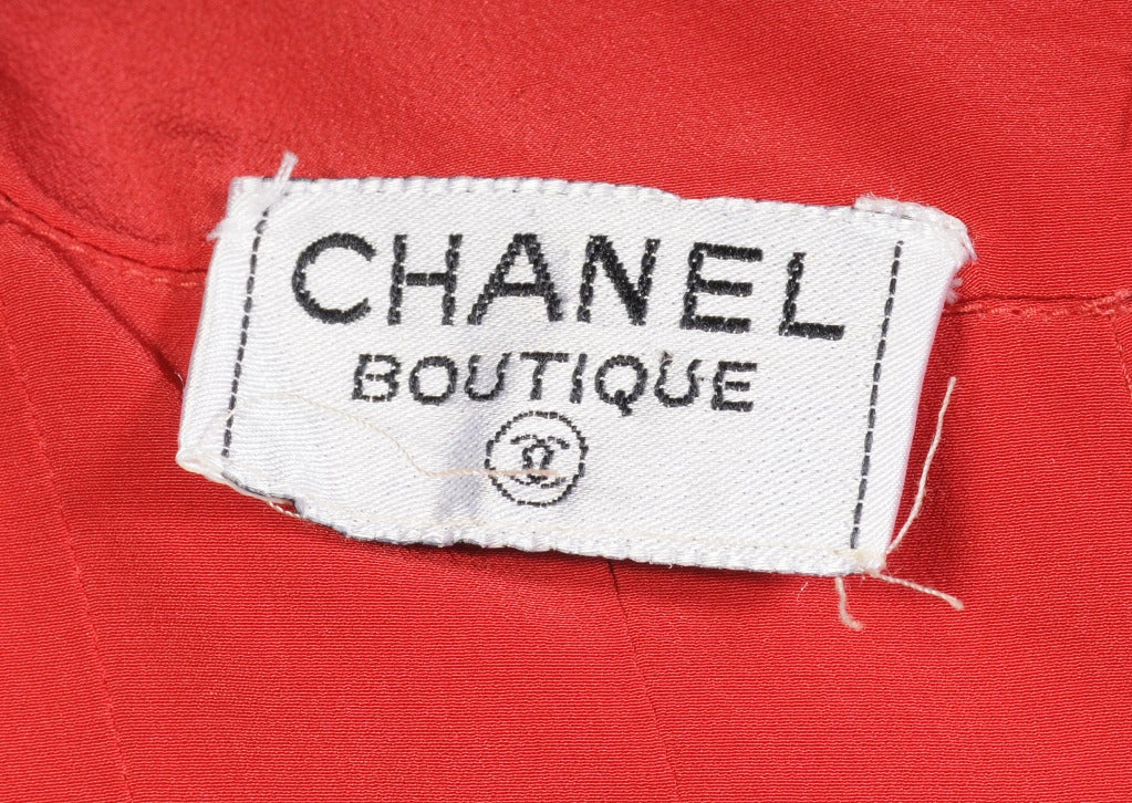 Women's Chanel Pleated Silk Blouse For Sale