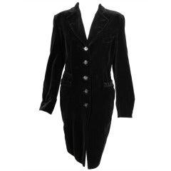 Ines de la Fressange Velvet Coat