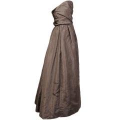 Sybil Connolly Haute Couture Mauve Silk Ballgown