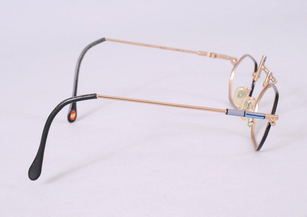 Glasses Frames Italian : Italian Modernist Eyeglass Frames at 1stdibs
