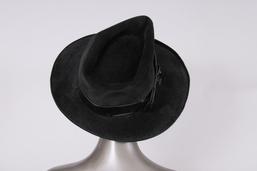 Borsalino Angora Fedora In Excellent Condition For Sale In New Hope, PA