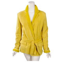 Gianni Versace Bright Yellow Shearling Jacket