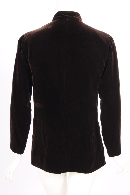Yves Saint Laurent Velvet Tunic with Lacing 3