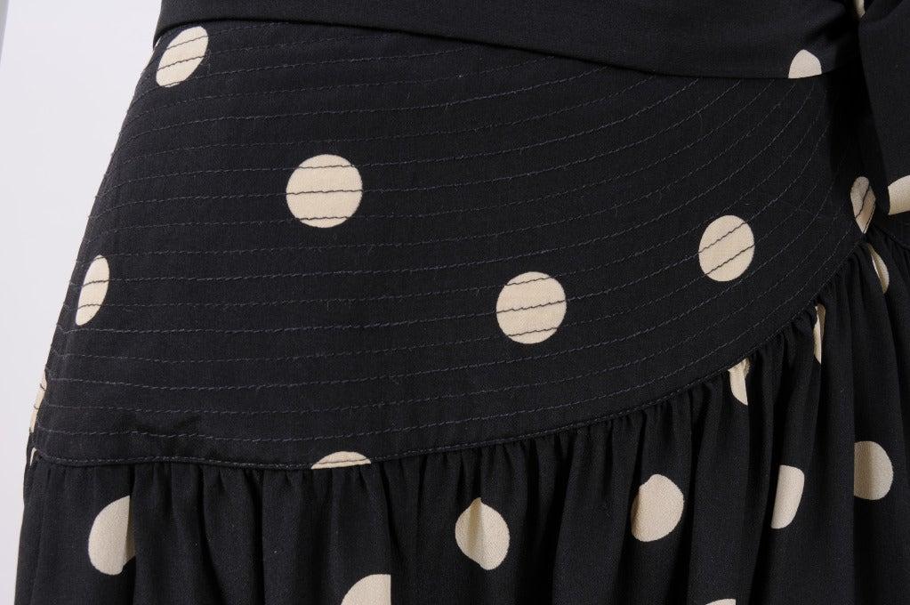 Black Martha, Palm Beach Silk Polka Dot Dress For Sale