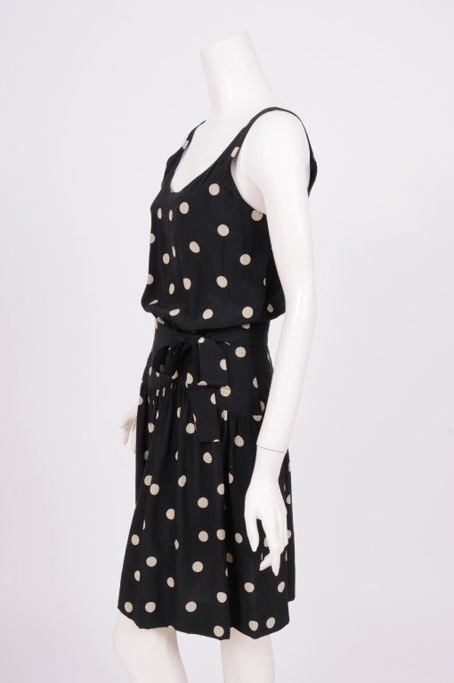 Martha, Palm Beach Silk Polka Dot Dress In Excellent Condition For Sale In New Hope, PA