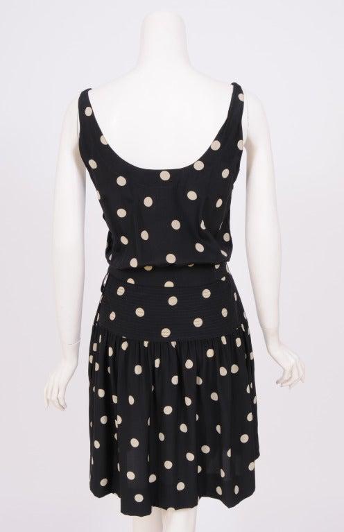 Women's Martha, Palm Beach Silk Polka Dot Dress For Sale