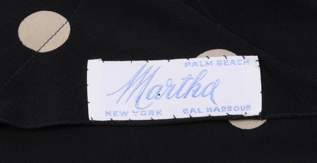 Martha, Palm Beach Silk Polka Dot Dress For Sale 1