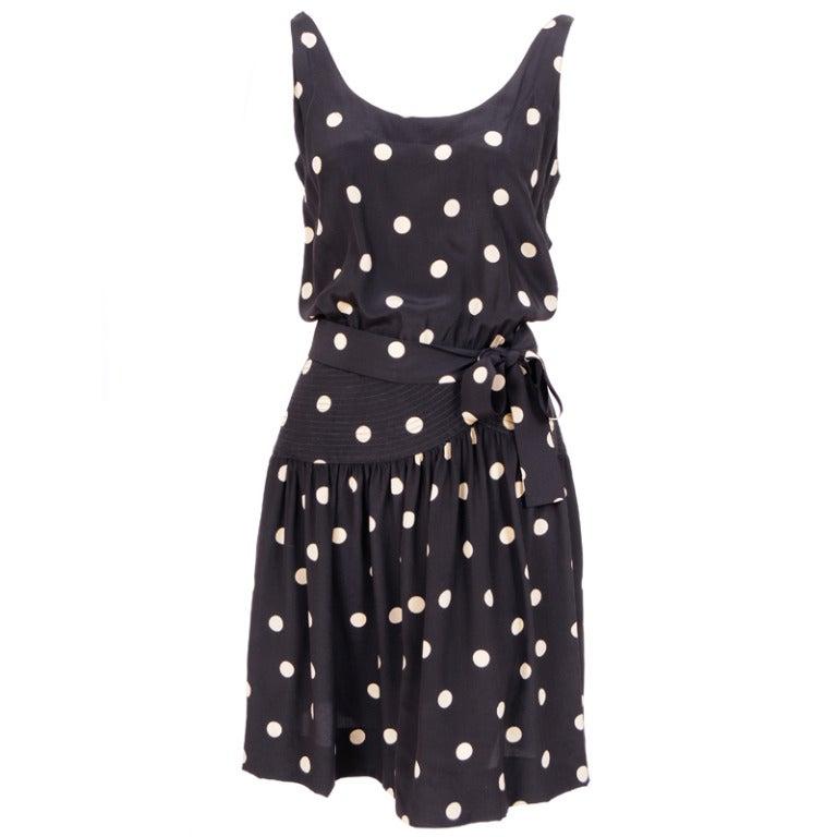 Martha, Palm Beach Silk Polka Dot Dress For Sale