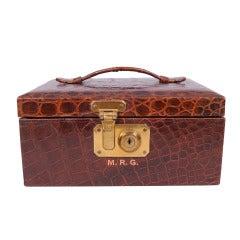 1950's Abercrombie & Fitch Alligator Jewelry Box