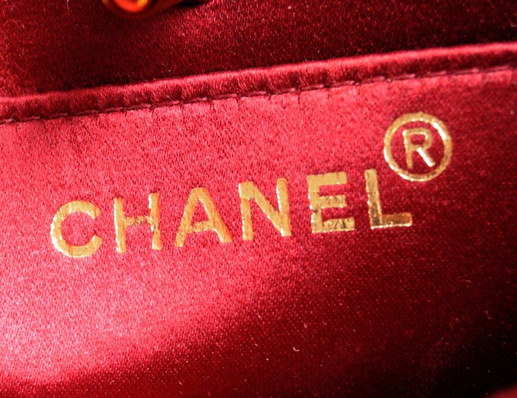 Chanel Red Burgundy Velvet Evening Bag 4