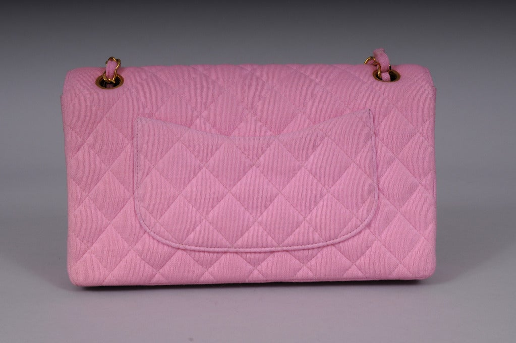 Chanel Haute Couture Runway Worn Pink Jersey 2.55  Bag 3