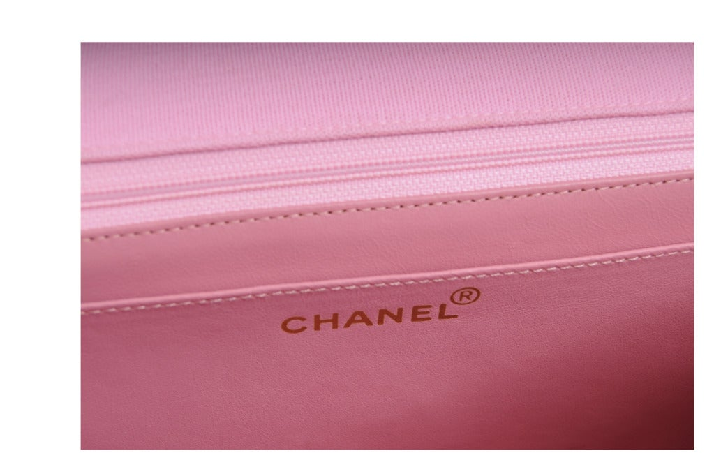 Chanel Haute Couture Runway Worn Pink Jersey 2.55  Bag 5