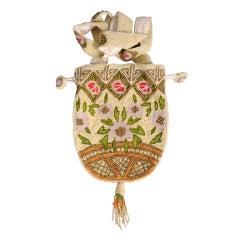 Beaded Flower Basket Design Bag