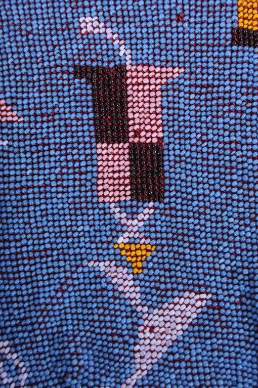 Blue Wiener Werkstatte Drawstring Bag For Sale