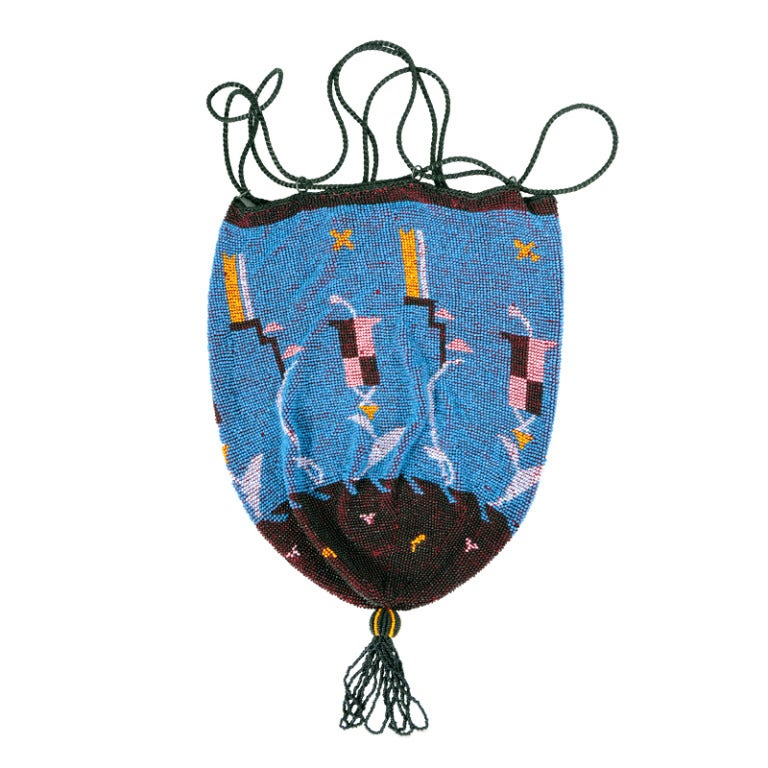 Wiener Werkstatte Drawstring Bag For Sale