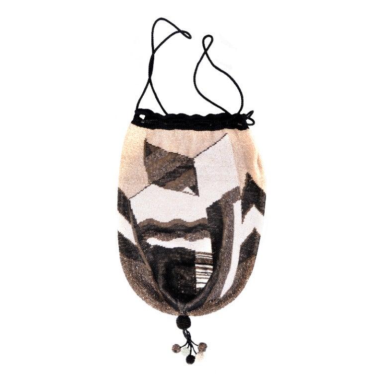 Wiener werkstatte beaded bag with sophisticated color for Sophisticated color palette