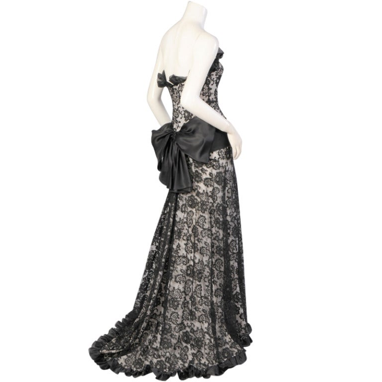 Yves saint laurent haute couture evening dress at 1stdibs for Haute couture dress price