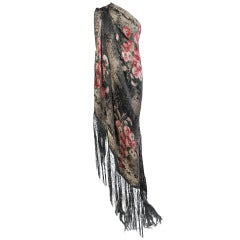 1920's French Floral Lame Shawl