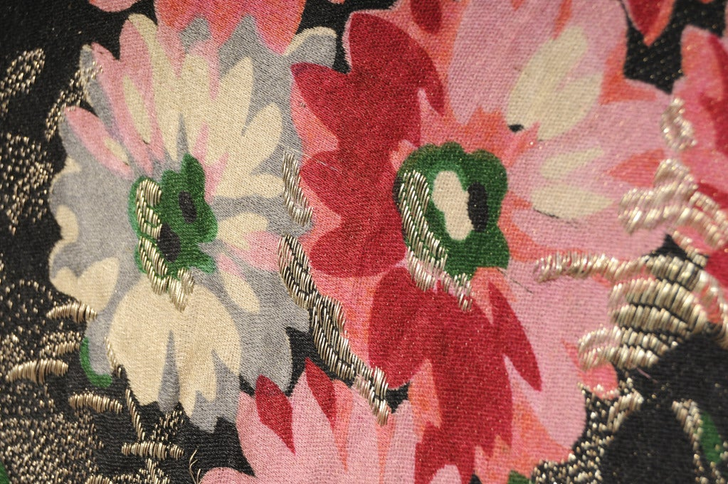 1920's French Floral Lame Shawl 4
