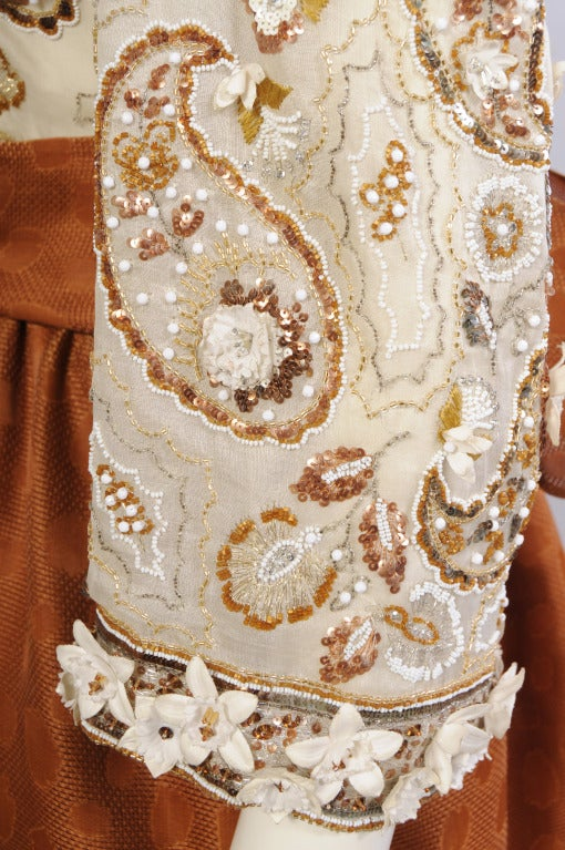 Givenchy haute couture lesage embroidered evening dress at