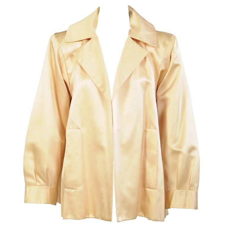 Yves saint laurent haute couture runway worn satin evening for Haute couture jacket