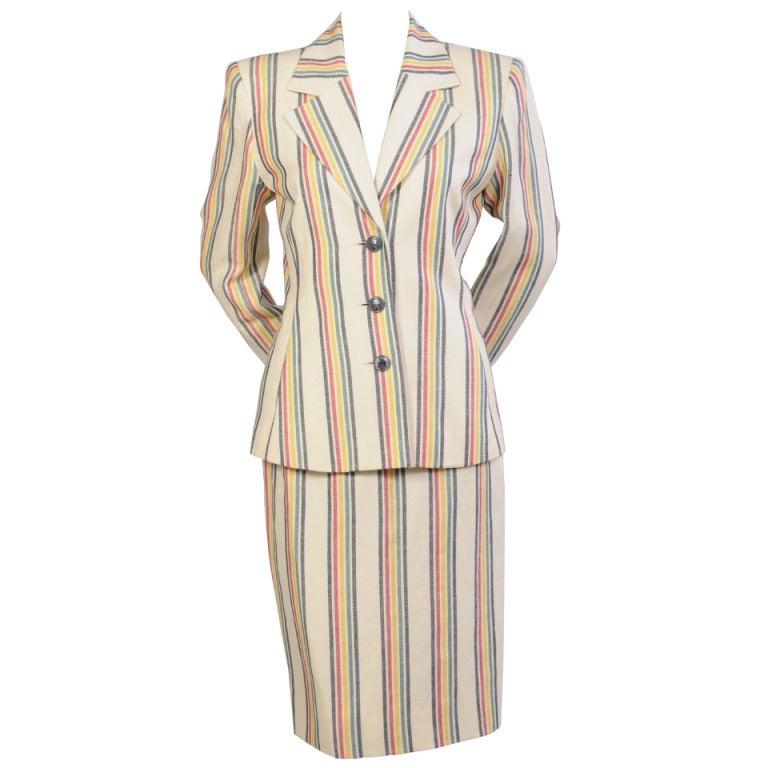 Hermes Striped Suit For Sale
