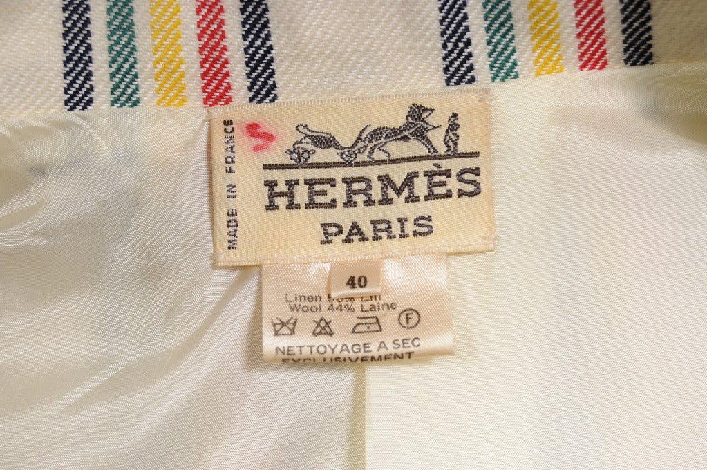 Hermes Striped Suit For Sale 1