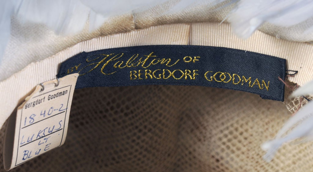 Halston of Bergdorf  Goodman Wig Hat For Sale 1