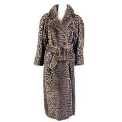 Sportmax Faux Leopard Coat