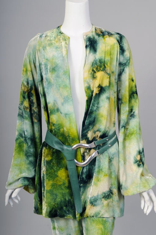 RARE Halston Tie Dyed Outfit 2