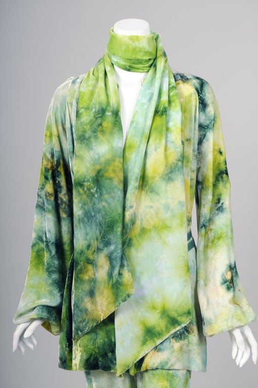 RARE Halston Tie Dyed Outfit 3