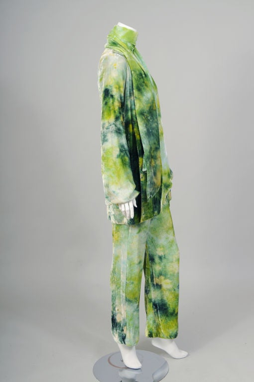 RARE Halston Tie Dyed Outfit image 4