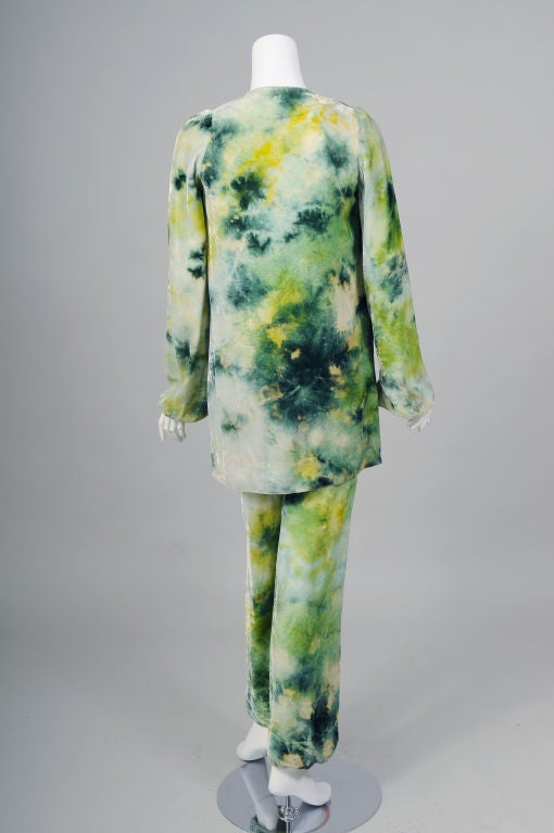 RARE Halston Tie Dyed Outfit image 5