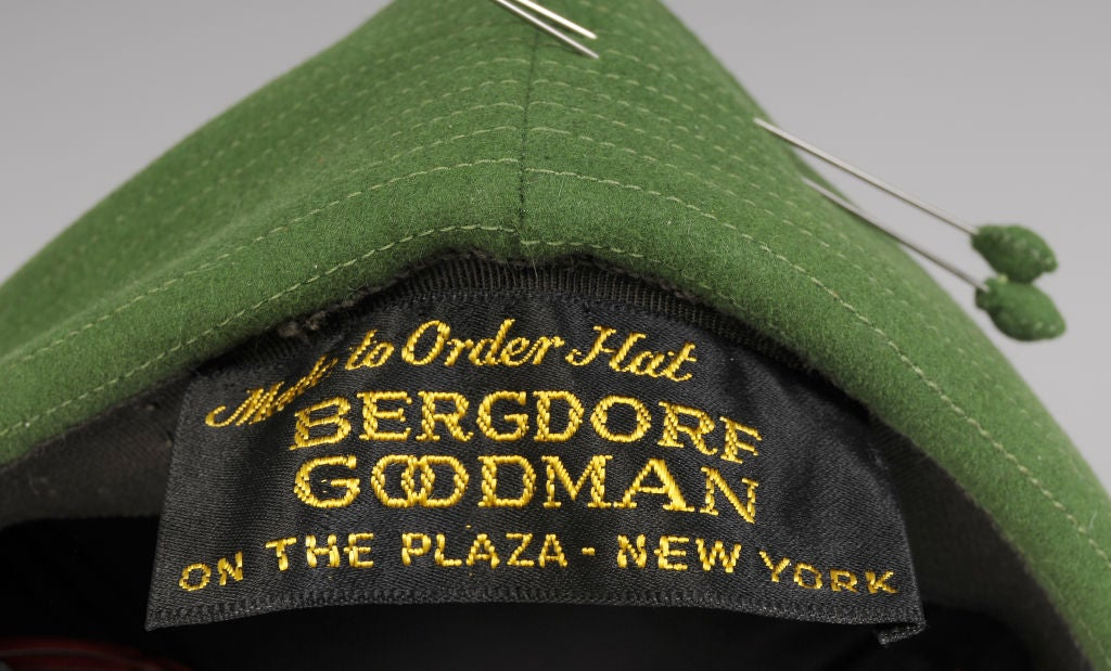 Women's Bergdorf Goodman Custom Pillbox Hat For Sale