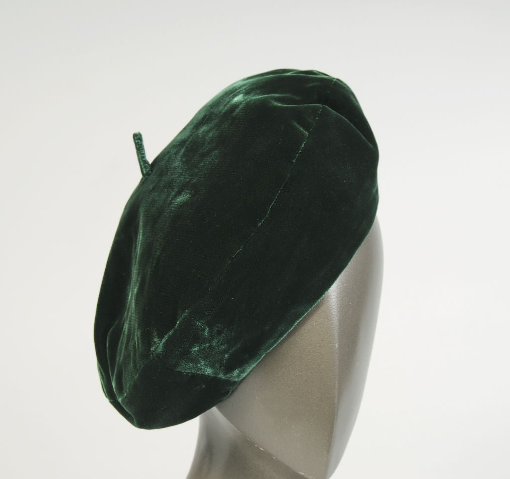 Christian Dior Velvet Beret 4