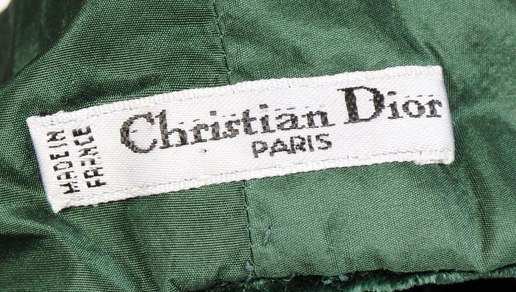 Christian Dior Velvet Beret 3