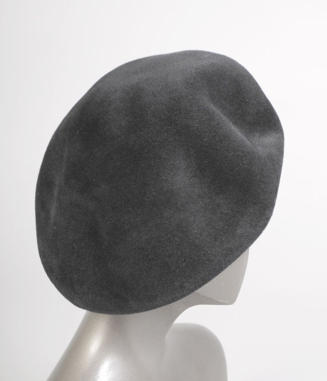 Chanel Black Wool Beret 2