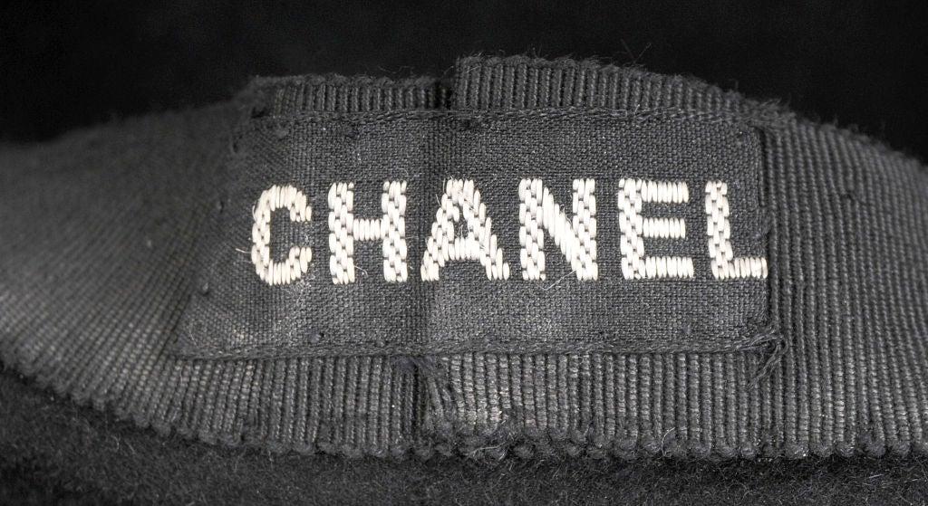 Chanel Black Wool Beret 3