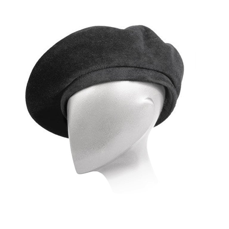 Chanel Black Wool Beret 1