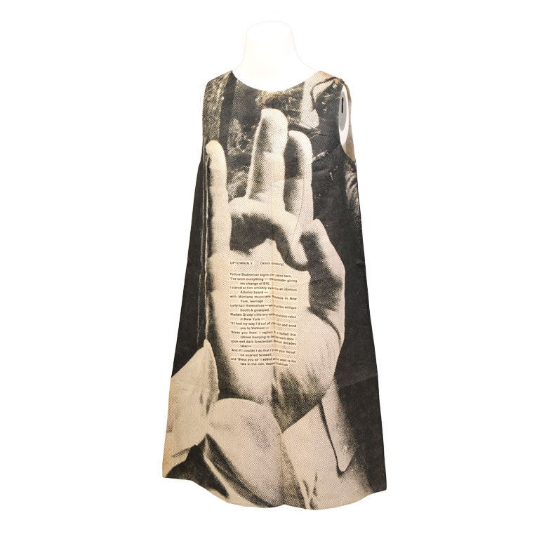 London Series Poster Dress, The Hand